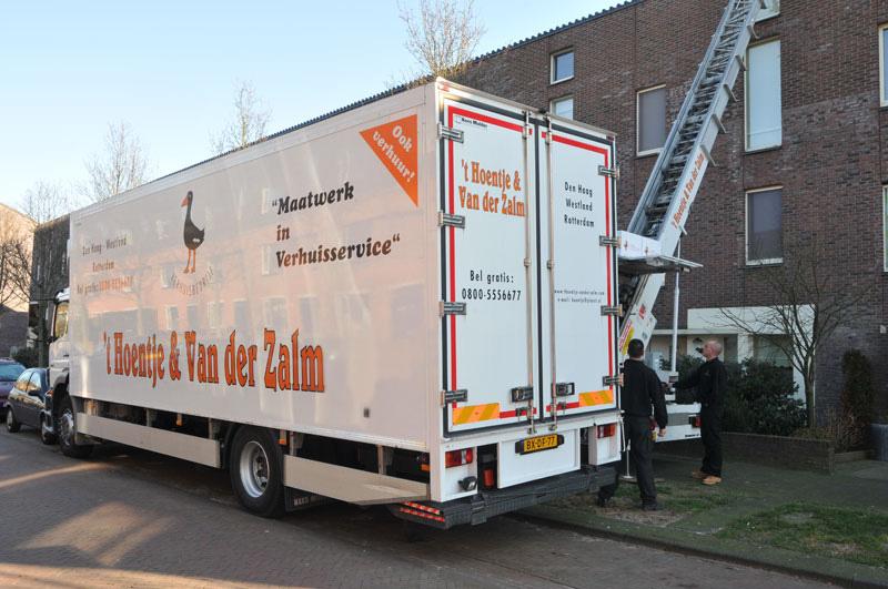 Verhuisbedrijf particulieren verhuizingen privè Het Hoentje Den Haag